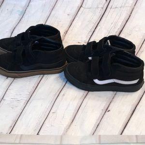 x2 pair Boys Vans Skateboard Shoes
